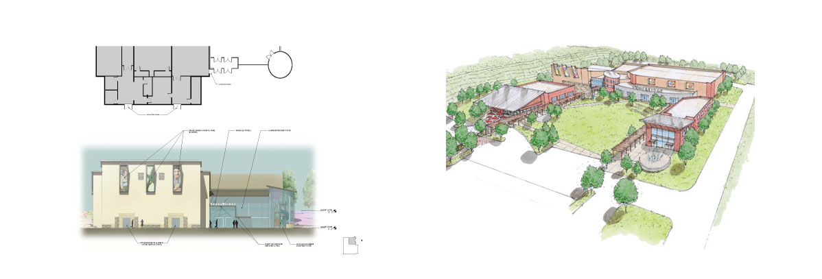 Conceptual Elevations of The Retreat - Cabin Architecture